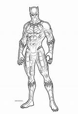 Coloring Panther sketch template
