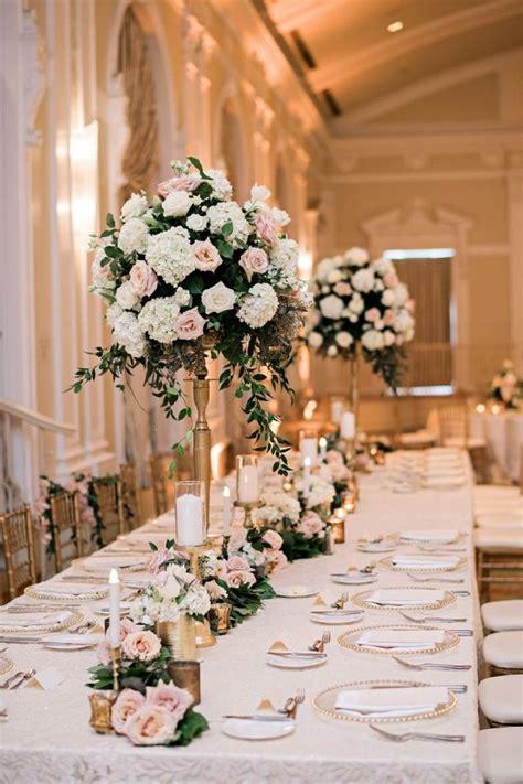 Soft + Romantic Florida Wedding Centerpieces in 2019
