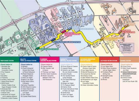 map  las vegas strip   travel information