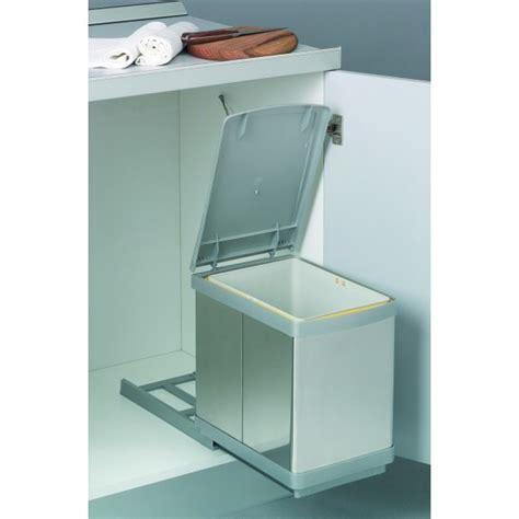 poubelle de porte de cuisine poubelle de cuisine coulissante sous évier 1 bac 16 l