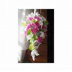 Bouquet De La Mariée : bouquet mari e tombant bijoux vert anis et fuchsia ~ Melissatoandfro.com Idées de Décoration