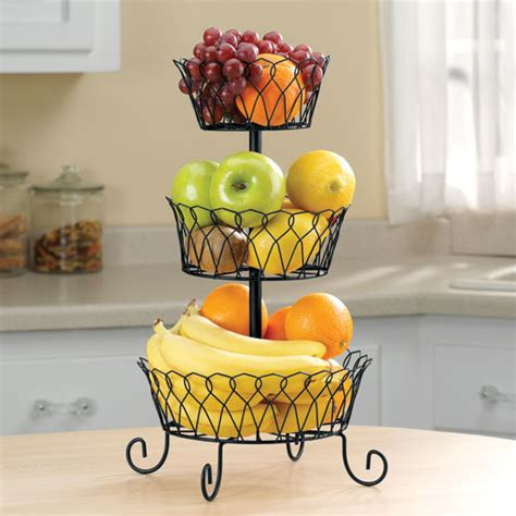 tier fruit fruits vegetable display basket stand holder