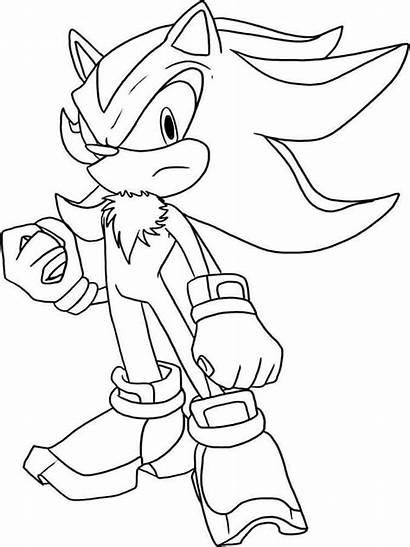 Sonic Coloring Hedgehog Shadow Printable Exe Ausmalbilder