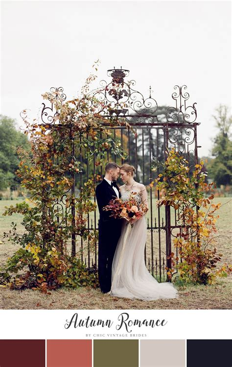 wedding fall colors 10 stunning autumn wedding colour palettes chic vintage