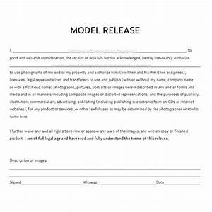 legal documents a commercial photographer should have With standard model release form template