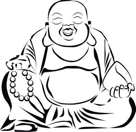 Boedha Kleurplaat by Buddha Outline Clip Sketch Coloring Page