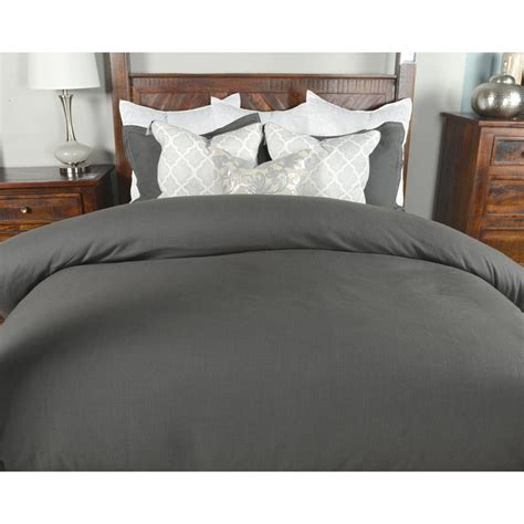 linen duvet cover king harlow charcoal linen blend king duvet cover v021509 the