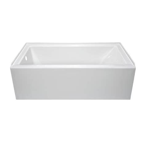 lyons linear 60 quot x 32 quot x 19 quot left hand drain bathtub at