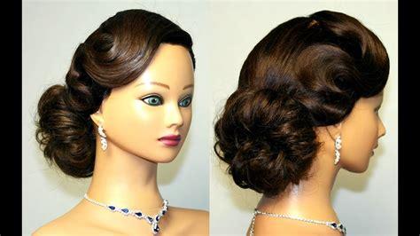 Vintage Updo Hairstyles vintage updo hairstyle for medium hair