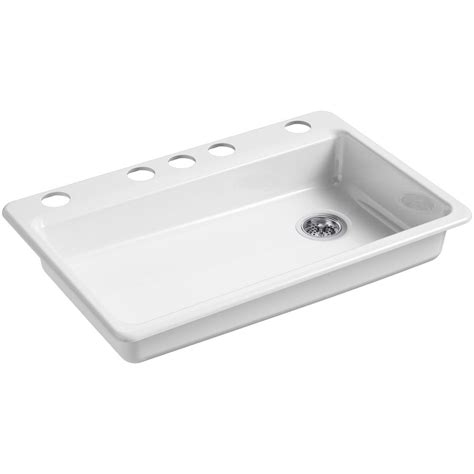 home depot kitchen sinks cast iron kohler riverby undermount cast iron 33 in 5 single
