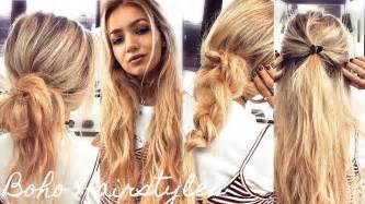 minute boho hairstyles quick easy running late