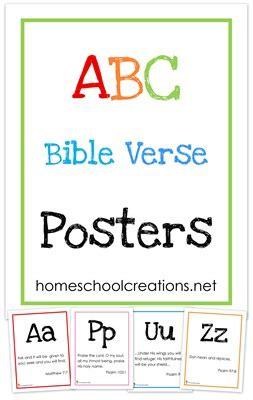 abc bible verse posters  homeschool deals