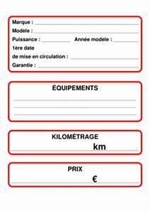 Document Pour Vendre Voiture : une pancarte de voiture vendre ~ Gottalentnigeria.com Avis de Voitures