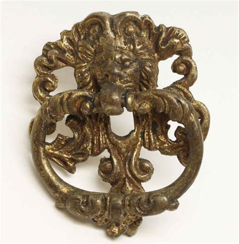 Antique Brass Lion Drawer Drop Pull  Olde Good Things
