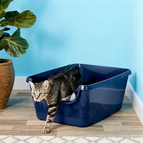 Frisco High Sided Cat Litter Box, Navy, Extra Large 24-in ...