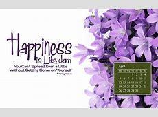 April wallpapers & april calendars