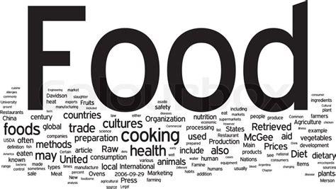 word for cuisine food word cloud stock vector colourbox