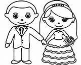 Groom Bride Coloring Pages Sheet Drawing Printable Rings Romantic Getdrawings Getcolorings sketch template