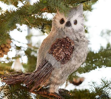 winter woods owl pottery barn