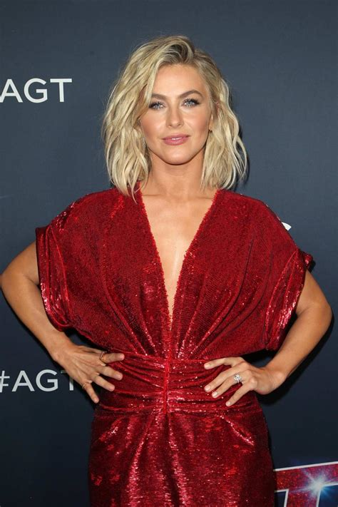 Julianne Hough sizzling in red dress at the 'America's Got ...