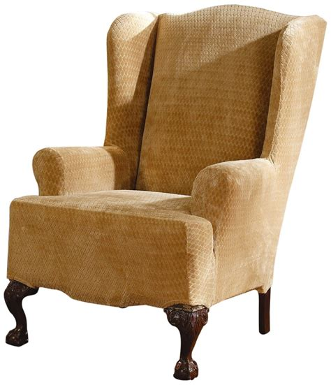 sure fit slipcovers chair sure fit slipcovers stretch royal wing chair cover