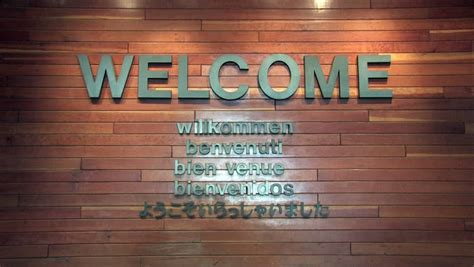 Stock video of welcome sign on wooden wall. zoom | 214561 ...