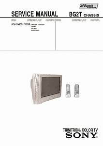 Sony Kv-hw21p80a Service Manual