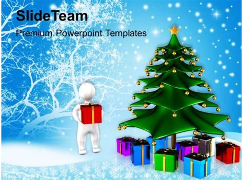 winter holidays christmas background tree  gifts