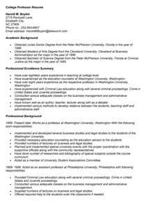 college professor resume template sles of college resume