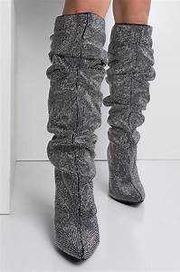 Levis Size Chart Rhinestone Slouchy Chunky Heel Pointed Toe Glitter Boots
