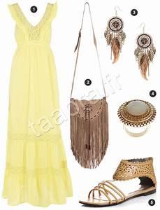 Robe Longue Style Boheme : id e de look boh me chic avec une robe longue taaora ~ Dallasstarsshop.com Idées de Décoration