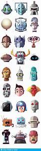 유명한 로봇 얼굴 일러스트