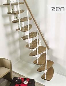 Escalier En Colimaçon Pas Cher : escalier gain de place design fontanot zen en acier bois ~ Premium-room.com Idées de Décoration
