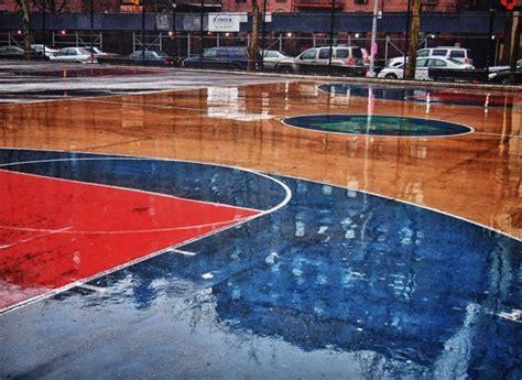Rain On Basketball Court