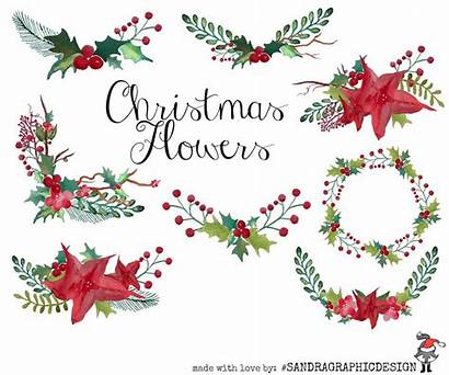 Christmas Clip Flowers Wreaths Illustrations Wreath Floral