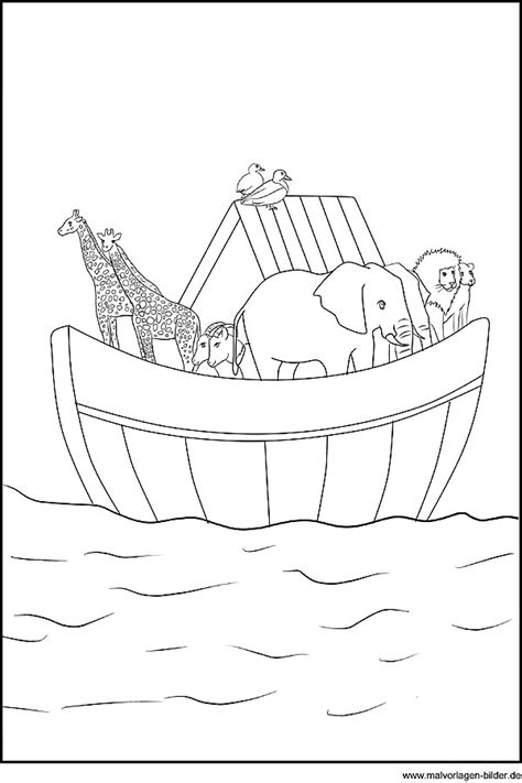 die arche noah ausmalbild aus der bibel
