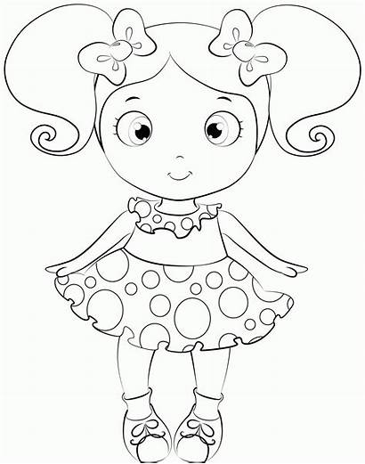 Doll Coloring Pages Dolls Lol Colouring Drawing