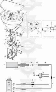 Snowex 375 Tailgate Salt Spreader Diagram