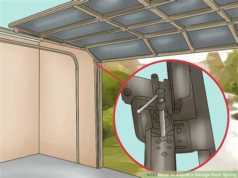 how to adjust garage door springs how to adjust a garage door with pictures wikihow