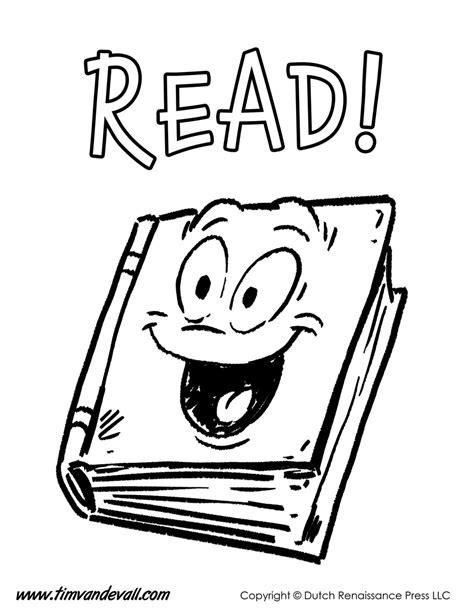 Reading Coloring Page  Tim Van De Vall
