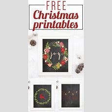 Free Christmas Printables For Your Home  Designer Trapped