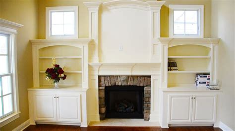 Fireplace With Bookcase Surround by Built In Bookcases Two Story Fireplace Mantel