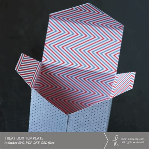 envelope flap treat box template svg file included