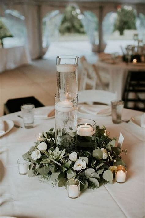 20 Romantic Wedding Centerpieces With Candles Candle