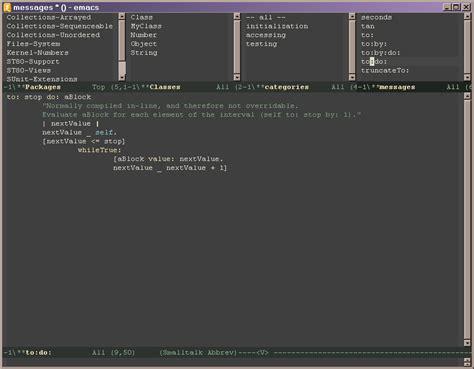 Smalltalk Browser In Emacs