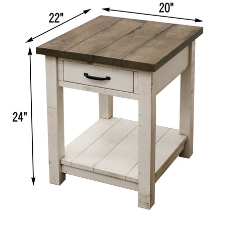 Bedroom End Tables Plans by Montgomery Open End Table Craft Furniture