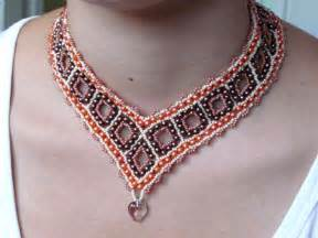 Beaded Necklace Free Pattern for Squares