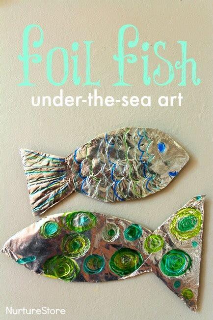 foil fish craft theme for preschool nurturestore 407 | foil fish ocean under the sea art craft