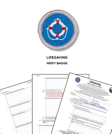 lifesaving merit badge worksheet requirements