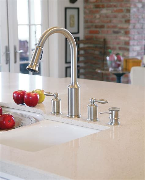 Faucets With Soap Dispenser by Moen 3944orb Kitchen Soap And Lotion Dispenser With Above